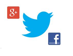 facebook, googleplus , twitter